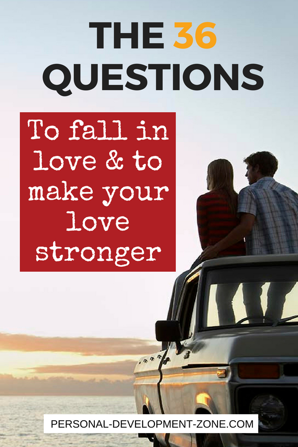 questions that make you fall in love
