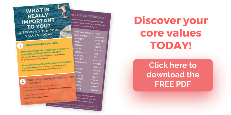 freebie discover core values PDF
