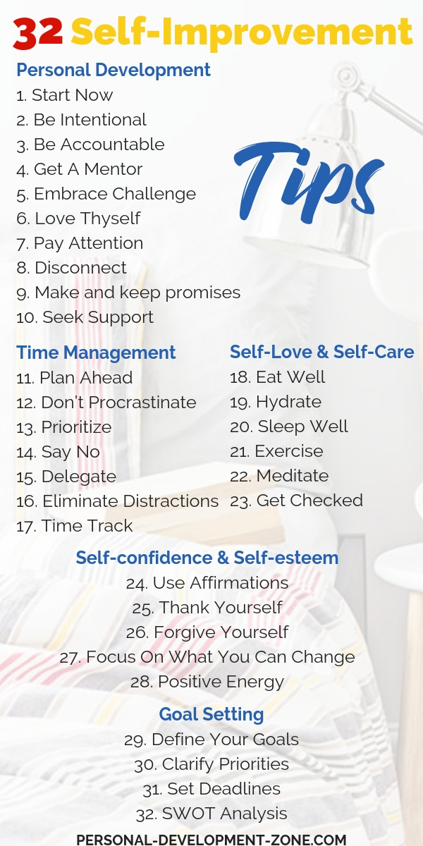 32 Self Improvement Tips To Skyrocket Your Success In 2021