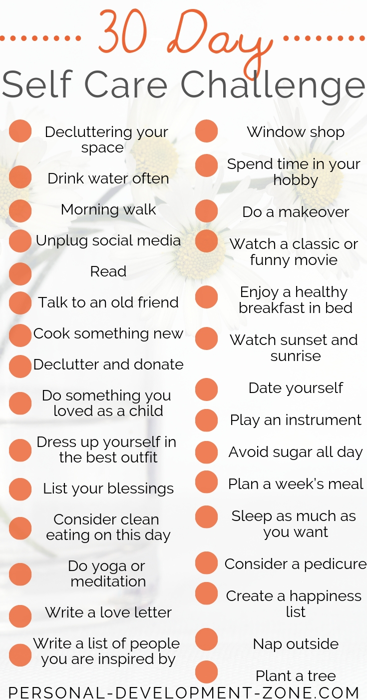 self-care ideas challenge